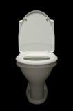 1 παν λευκό τουαλετών Στοκ εικόνα με δικαίωμα ελεύθερης χρήσης