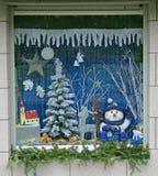 1 παράθυρο Χριστουγέννων Στοκ εικόνα με δικαίωμα ελεύθερης χρήσης