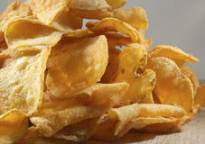 1 πατάτα σωρών τσιπ Στοκ Φωτογραφία