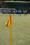 1 ποδόσφαιρο σημαιών πεδίων Στοκ Εικόνες