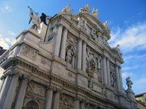 1 πρόσοψη ενετική Βενετία λεπτομέρειας Στοκ Εικόνα