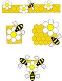 1 πρότυπο μελισσών Στοκ Εικόνες