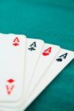 1 πόκερ άσσων Στοκ Εικόνες