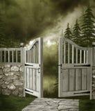 1 πύλη κήπων ελεύθερη απεικόνιση δικαιώματος