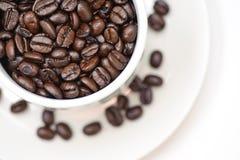 1 σειρά καφέ φασολιών Στοκ φωτογραφία με δικαίωμα ελεύθερης χρήσης