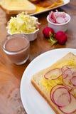 1 σειρά σάντουιτς Στοκ Εικόνα