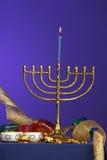 1 σειρά menorah στοκ φωτογραφίες