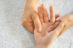 1 σειρά reflexology χεριών Στοκ Εικόνες