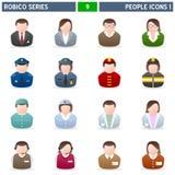 1 σειρά robico ανθρώπων εικονιδί&om Στοκ φωτογραφίες με δικαίωμα ελεύθερης χρήσης