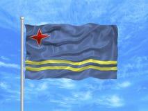 1 σημαία του Aruba Στοκ Φωτογραφία