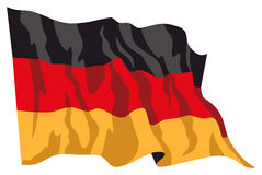 1 σημαία deutschland Στοκ Εικόνες