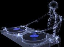 1 σκελετός Χ ακτίνων του DJ Στοκ εικόνες με δικαίωμα ελεύθερης χρήσης