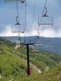 1 σκι ανελκυστήρων εδρών Στοκ Φωτογραφία