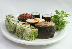 1 σούσι πιάτων Στοκ Φωτογραφία