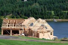 1 σπίτι κατασκευής νέο Στοκ φωτογραφίες με δικαίωμα ελεύθερης χρήσης