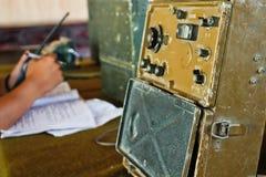 1 στρατιωτικό ραδιο δωμάτιο ελέγχου Στοκ Φωτογραφίες