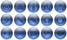 1 σύνολο γυαλιού κουμπιώ& Στοκ Φωτογραφίες