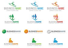 1 σύνολο logotype Στοκ Εικόνα