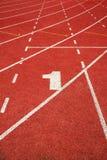1 τρέχοντας διαδρομή γραμμών Στοκ εικόνες με δικαίωμα ελεύθερης χρήσης