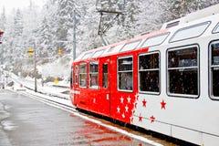 1 τραίνο blanc mont Στοκ Φωτογραφία