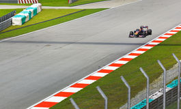 1 τύπος η GP Jaime alguersuari sepang Στοκ Φωτογραφία