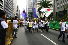 1 φιλιππινέζικη απεργία Στοκ Εικόνες