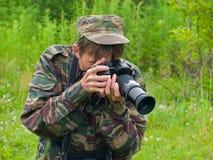 1 φωτογράφος Στοκ φωτογραφίες με δικαίωμα ελεύθερης χρήσης