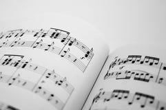 1 φύλλο μουσικής Στοκ Εικόνες