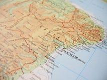 1 χάρτης Bahia Βραζιλία Στοκ φωτογραφία με δικαίωμα ελεύθερης χρήσης