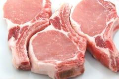 1 χοιρινό κρέας μπριζολών Στοκ Εικόνες