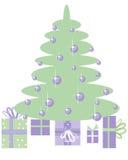 1 χριστουγεννιάτικο δέντρο Στοκ εικόνα με δικαίωμα ελεύθερης χρήσης