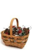 1 Χριστούγεννα καλαθιών Στοκ Φωτογραφίες