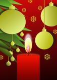 1 Χριστούγεννα κεριών Στοκ Φωτογραφίες