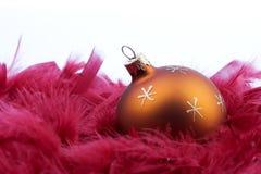1 Χριστούγεννα σφαιρών Στοκ φωτογραφίες με δικαίωμα ελεύθερης χρήσης