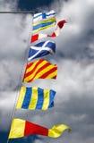1 χρωματίζοντας σημαίες στοκ εικόνες