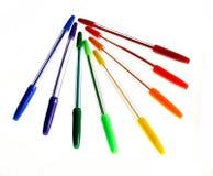 1 χρωματισμένες ballpoint πέννες Στοκ Εικόνες