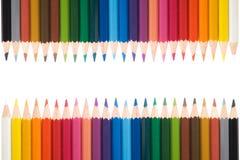 1 χρώμα pecils Στοκ εικόνα με δικαίωμα ελεύθερης χρήσης
