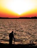 1 ψαράς αγοριών Στοκ φωτογραφία με δικαίωμα ελεύθερης χρήσης