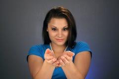 1 όμορφα κοίλα brunette χέρια Στοκ εικόνες με δικαίωμα ελεύθερης χρήσης