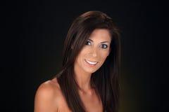 1 όμορφη γυναίκα headshot Στοκ Εικόνα