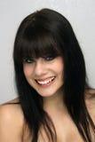 1 όμορφη νεολαία brunette headshot Στοκ Εικόνα