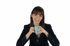 1 όμορφος καφές επιχειρηματιών brunette Στοκ Εικόνα