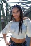 1 όμορφο κορίτσι Αϊτινός υπ&alpha Στοκ Φωτογραφία
