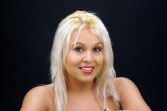 1 όμορφο ξανθό headshot Στοκ Εικόνα