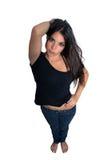 1 όμορφο πλήρες μήκος brunette Στοκ Εικόνες