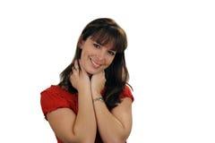 1 όμορφο χαμόγελο brunette Στοκ φωτογραφίες με δικαίωμα ελεύθερης χρήσης