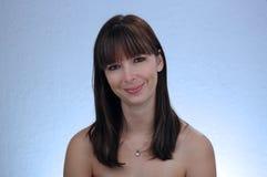 1 όμορφο brunette headshot Στοκ φωτογραφία με δικαίωμα ελεύθερης χρήσης