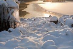 1 ύδωρ χιονιού πάγου Στοκ Εικόνες