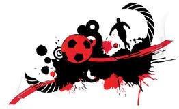 1 абстрактный футбол Стоковое Изображение