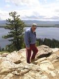 1 активный старший hiker Стоковая Фотография
